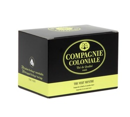 Compagnie Coloniale Mint Green Tea - 48 individually-wrapped sachets