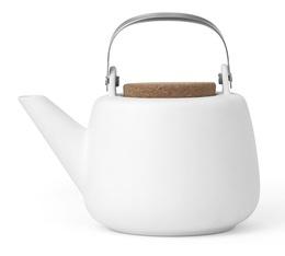 1.2L Nicola white porcelain teapot  - Viva Scandinavia + free gift