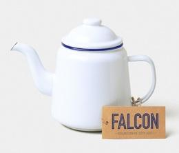 Service à thé blanc avec bordure bleue 1L - Falcon Enamelware