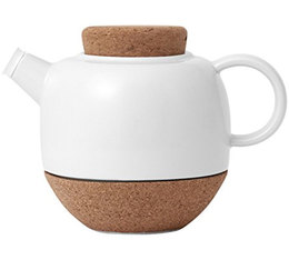 Viva Scandinavia Lauren 800ml porcelain and cork teapot with tea ball + Free tea gift