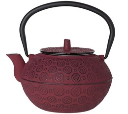 Cosy & Trendy 'Takayama' red cast-iron teapot with infuser + Free Tea