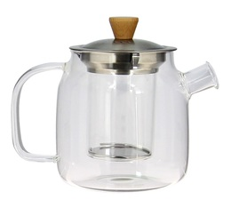 Glass teapot with stainless steel and wood lid 68cl - OGO Living