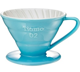 Dripper Tiamo V02 conique bleu 4 tasses