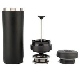 Mug travel press noir mat avec filtre à thé - 35cl - Espro