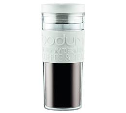 Mug isotherme double paroi plastique 45 cl - Couvercle à vis - Blanc crème - Bodum