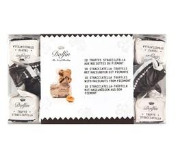 Boîte de 10 Truffes Stracciatella et noisettes du Piémont - Dolfin
