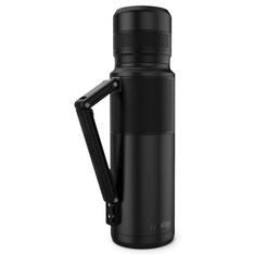 CONTIGO Insulated bottle in black - 1.2L with handy strap