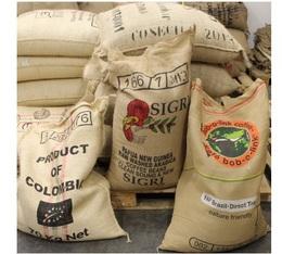 Véritable sac de café original en toile de jute (vide)