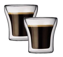 2 verres double paroi Assam 10cl - Bodum