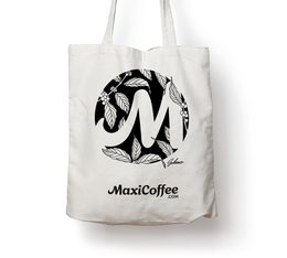 Tote Bag Dessin M L'Atelier du Tote Bag - MaxiCoffee