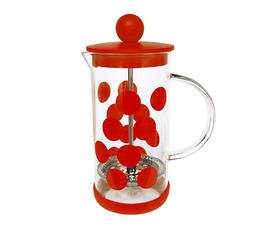 Zak!Designs DOT DOT 3-cup French Press coffee maker in red