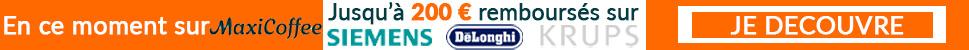Offre de remboursement sur les machines expresso broyeur Siemens