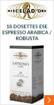18 dosettes ESE Espresso Arabica / Robusta - Miscela D'Oro