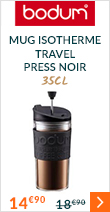 Mug isotherme Travel Press 35 cl noir - Bodum