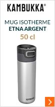 Mug isotherme Etna Argent 50 cl - KAMBUKKA