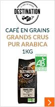 Café en grains Bio Grands Crus pur arabica - 1kg - Destination
