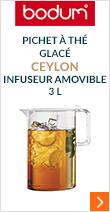 Pichet à thé glacé Ceylon avec infuseur amovible - Bodum 3L