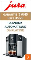 JURA D6 Platine Pack Zen - Garantie 2 ans + 1 AN OFFERT !