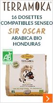 16 Dosettes compatibles Senseo Sir Oscar - Arabica Bio Honduras - Terramoka