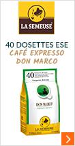 40 dosettes ESE Café Expresso Don Marco - La Semeuse