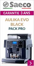 Saeco Aulika Evo Black Pack Pro Garantie 3 ans*