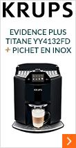 KRUPS Evidence Plus Titane YY4132FD & son pichet en inox / Parce que chaque détail co