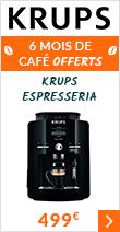 6 mois de café offert avec la Krups Espresseria Quattro Force Noire YY3076FD MaxiPack
