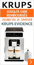 Krups Evidence Metal YY3070FD / Jusqu'à 100€ remboursés (jusqu'au 31 janvier
