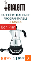 Cafetière italienne Bialetti Easy Timer électrique programmable - 6 tasses