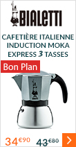 Cafetière italienne Bialetti Moka Express induction - 3 tasses