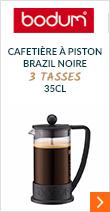 Cafetière à Piston Brazil noire - 3 tasses - 35 cl - Bodum