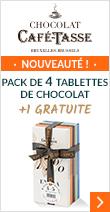 Pack de tablettes au chocolat 4+1 Gratuite 5x85g - Café Tasse