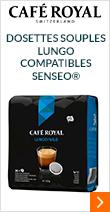 Dosettes souples Lungo Café Royal compatibles Senseo®