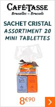 sachet cristal assortiment 20 mini tablettes à 8 euros 90