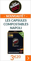 Nouveauté : les Capsules compostables Napoli à 3 euros 20