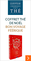 Coffret thé de Noël - Bon Voyage Féérique - 4 parfums - Comptoir Fran&