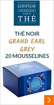 Thé noir Grand Earl Grey - 20 sachets mousselines - Comptoir Français du thé