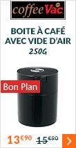 Boite conservatrice avec vide d'air 250gr/0.8L noire - Tightvac