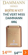 Boite N°477 thé vert Miss Dammann - 100g - Dammann Frères