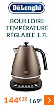 Bouilloire KBI 2011 BZ température réglable 1,7 L - Delonghi + Offre Cadeau