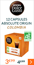 12 capsules Lungo Colombia Bio - Nescafe Dolce Gusto
