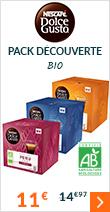 Pack découverte gamme Absolute Origin Bio 3 x 12 capsules Dolce Gusto - Nescafé