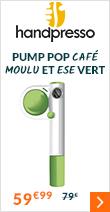 Handpresso pump pop pour café moulu et ESE vert