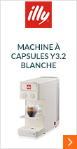 Machine à capsules Y3,2 Iperespresso Blanche Illy