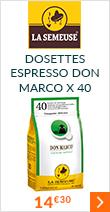 Café Expresso en dosette ESE : La Semeuse - Don Marco - Sachet de 40 à 14 euros 30