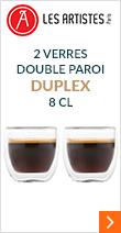 2 verres double paroi 8 cl Duplex - Les Artistes Paris