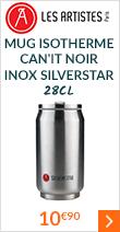 Mug isotherme Can'it Inox Silverstar 28 cl - Les Artistes Paris
