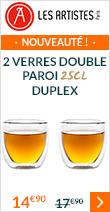 2 verres double paroi 25 cl Duplex - Les Artistes Paris