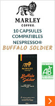 Capsules compatibles Nespresso® Buffalo Soldier Bio x10 Marley Coffee