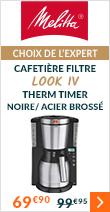 Cafetière filtre Melitta Look IV Therm Timer 1011-16 Noire/ acier brossé + offre c